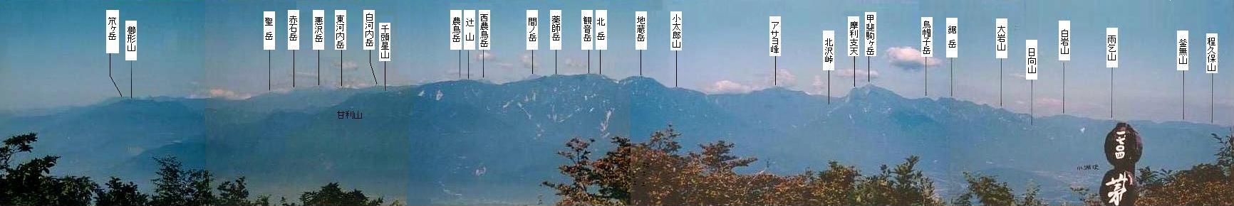 茅ヶ岳からの展望